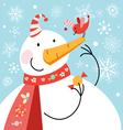 big snowman vector image