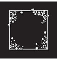 black floral box vector image vector image