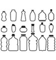 bottle container outline icons vector image vector image