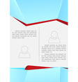 Brochure or flyer modern design template vector image