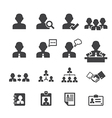 business persons and users icon vector image vector image