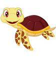 cartoon bacute turtle vector image vector image