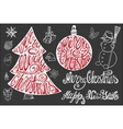 Christmas letteringNew year card elements set vector image vector image