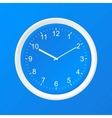 Clock 3D Paper Icon vector image