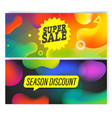 coloful modern landing template with different vector image vector image