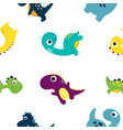 cute dinosaur pattern vector image