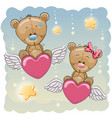 cute lovers bears vector image vector image