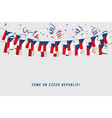 czech republic garland flag with confetti vector image vector image