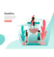 deadline concept modern flat design concept of vector image vector image