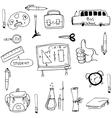 Doodle of element hand draw school vector image