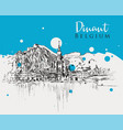 drawing sketch dinant belgium vector image vector image
