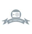 electric conditioner logo simple gray style vector image vector image
