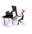 Expressive composer vector image vector image
