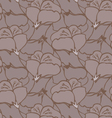 Fabric design flower brown vector image