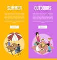 family and couple on barbecue vector image