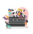 film industry concept for web banner vector image