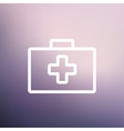 First aid kit thin line icon vector image vector image
