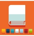 Flat design book vector image