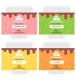 fruit ice cream package design vector image vector image