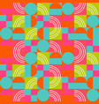 geometric pattern in bright color blocks vector image