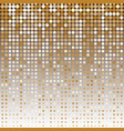 gold dot halftone abstract background vector image vector image