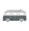 Grunge camper van vector image