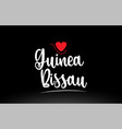 guinea bissau country text typography logo icon vector image vector image
