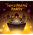 Halloween DJ Party vector image vector image