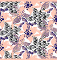 hand drawn flower seamless pattern in rosy vector image vector image
