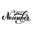 hello autumn lettering seasons greetings fall vector image