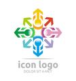 icon arrow star design symbol abstract vector image vector image