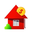 Investing in home purchase sign vector image vector image