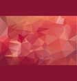 light red polygonal which consist of triangles vector image vector image