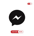 messenger logo icon social media symbol vector image