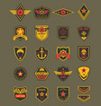 military patches army chevrons air forces vector image vector image