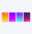 modern colorful bright abstract gradient line vector image