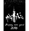 New Year in city vector image vector image
