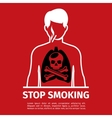 No Smoking poster Man with skull and cross bones vector image vector image