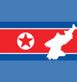 north korea flag vector image