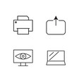office outline icons set vector image vector image