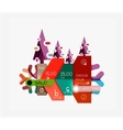Paper Christmas Greeting Card Banners with text vector image vector image