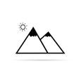 pyramid cartoon vector image vector image