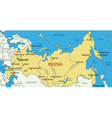 Russian Federation - map vector image