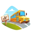 school bus on background vector image vector image