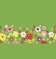 seamless floral border for spring and vector image