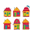 Set colorful houses in cartoon style vector image vector image