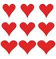 set hearts elegant shape heart symbol vector image vector image