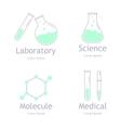 set laboratory equipment vector image