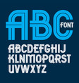set of capital alphabet letters made with white vector image