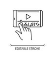 smartphone film making linear icon vector image